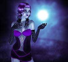 Girl in forest at night 4 by AnnArtshock