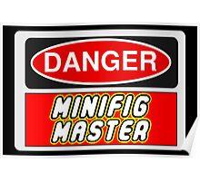 Danger Minifig Master Sign Poster
