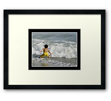 Sparring Against The Wave Framed Print