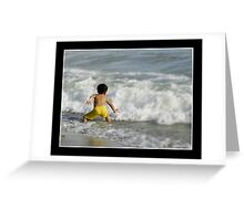 Sparring Against The Wave Greeting Card