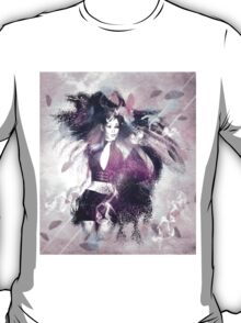 Girl with ravens manipulation 3 T-Shirt