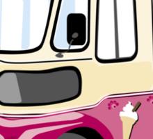 ice cream vanvector illustration of an ice cream truck Sticker