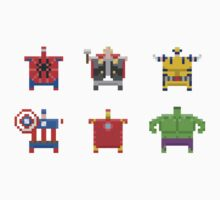 Marvel Dumpling Superhero Sticker Pack by Jake McCarthy Mansbridge
