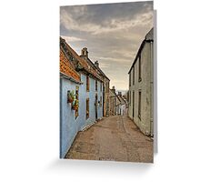 Looking down Tanhouse Brae Greeting Card