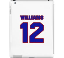 National Hockey player Butch Williams jersey 12 iPad Case/Skin