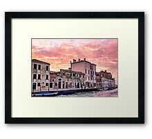 Venice sunset Framed Print