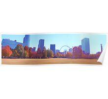 Atlanta's Centennial Park in Fall Poster