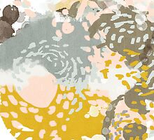 Hutton - Modern Abstract painting in free style with modern colors by charlottewinter