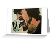 Dave Grohl Painting - Singing Best of You Greeting Card