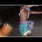 Ghana Dance Panorama Fine Art Poster by Wayne King