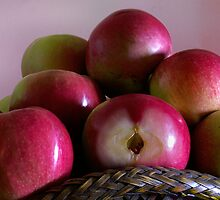 Fresh Apples with seeds by PRPhoto