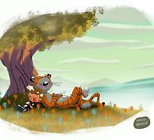 Calvin and Hobbes by davidpavon