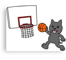 wolfpupy basketball Canvas Print
