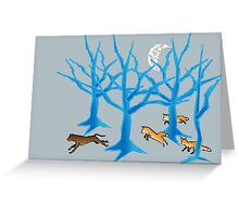 The Foxes Hunt the Hound Greeting Card