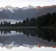 Lake Matherson reflections by Stephanie Johnson