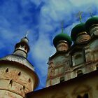 Domes of Rostov the Great's Kremlin by Jon Ayres