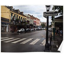 Rain Soaked Dumaine - New Orleans, LA Poster