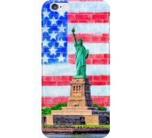 Lady Liberty And The American Flag iPhone Case/Skin