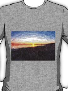 Beautiful sunset above the sea T-Shirt