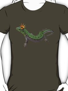 green lizard with a golden crown T-Shirt