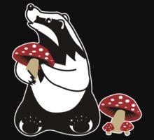 Badger, Badger, Badger, Badger, Mushroom, white stroke by HaRaKiRi