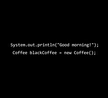I need coffee - programming java by taguzga