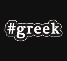 Greek - Hashtag - Black & White Kids Clothes
