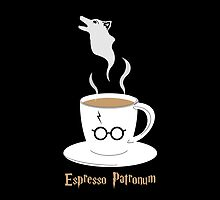 Espresso Patronum - Wolf by nativefoxart