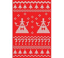 Bill Cipher Ugly Xmas Sweater--White Photographic Print