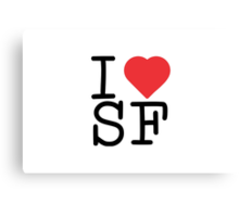 I Heart SF Canvas Print
