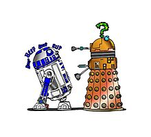 R2D2 meets a Dalek Photographic Print