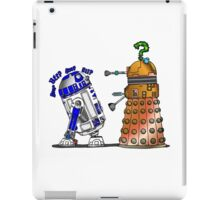 R2D2 meets a Dalek iPad Case/Skin
