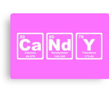 Candy - Periodic Table Canvas Print
