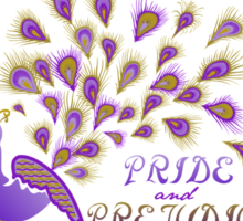 Paisley Peacock Pride and Prejudice: Royal Sticker