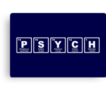 Psych - Periodic Table Canvas Print