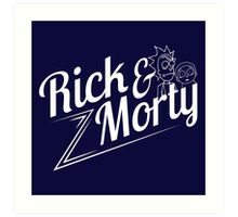 Rick and Morty (white lettering) Art Print