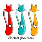 Medical Assistant Cat Lover by gailg1957