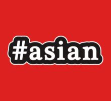 Asian - Hashtag - Black & White by graphix