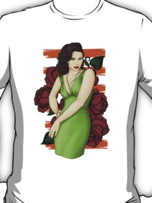Pinup Girl In Green T-Shirt