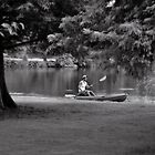 Afternoon out on the lake with a kayak by Scott Mitchell