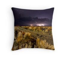 Electrical storm over the Bight Throw Pillow