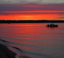 Summer Sunset on Traverse Bay by Kathy Russell