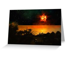 The Last Sunset. Greeting Card
