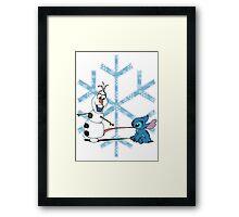 Olaf & Stitch Framed Print