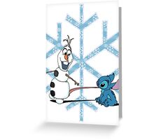 Olaf & Stitch Greeting Card
