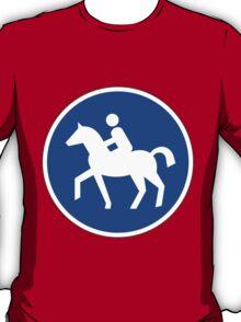 Sonderweg für Reiter. T-Shirt