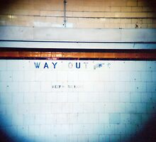 way out, keep to the right. by sasufi
