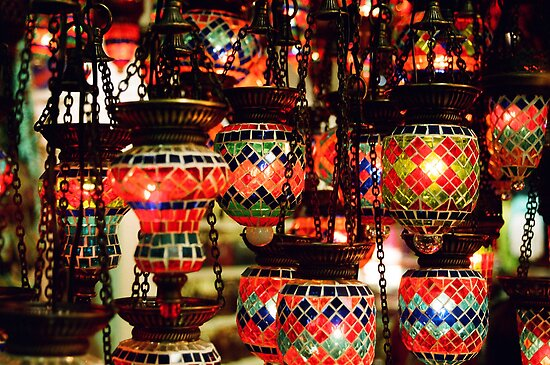 Lanterns in the Grand Bazaar by Camilla
