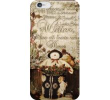 Country Christmas Crafts 7 iPhone Case/Skin