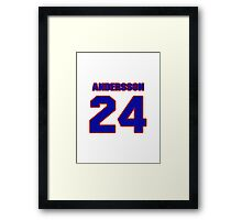 National Hockey player Jonas Andersson jersey 24 Framed Print